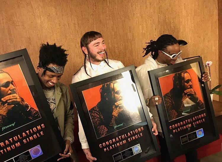 """post malone's """"congratulations"""" goes platinum, shares official cover"""