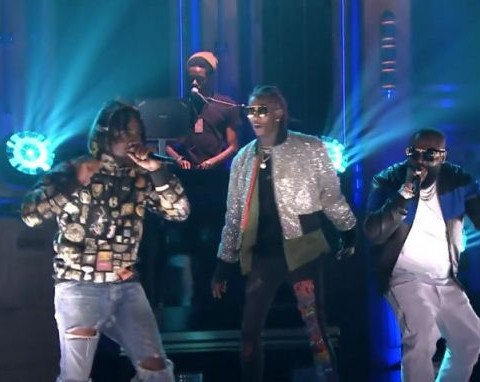 Watch Rick Ross Performs Trap Trap Trap with Young Thug & Wale on The Tonight Show