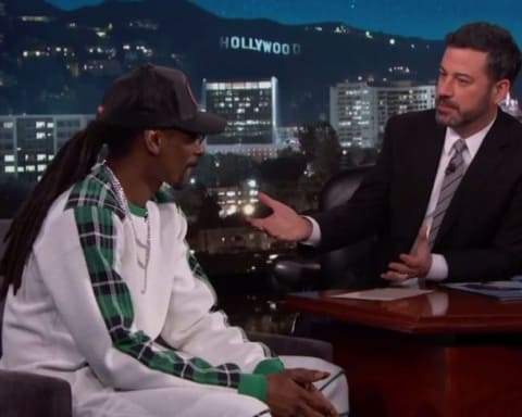Watch Snoop Dogg Reveals his Top 3 Rappers of All Time; Performs Trash Bags on Jimmy Kimmel Live
