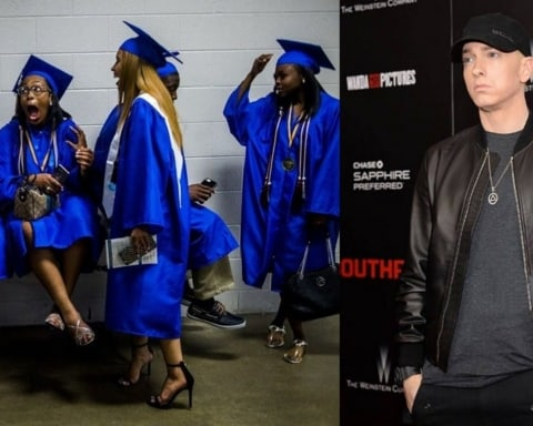 Eminem Surprises 2017 Flint Graduates with a Recorded Message & A Pair of Headphones