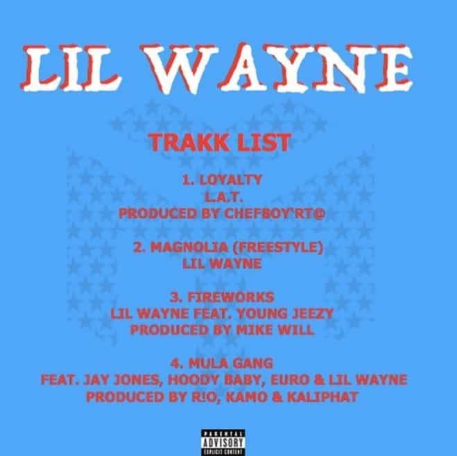 Stream Lil Wayne's 4 New Songs