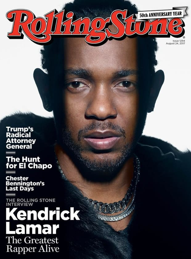 Kendrick Lamar Covers Rollingstone's 50th Anniversary Special Edition