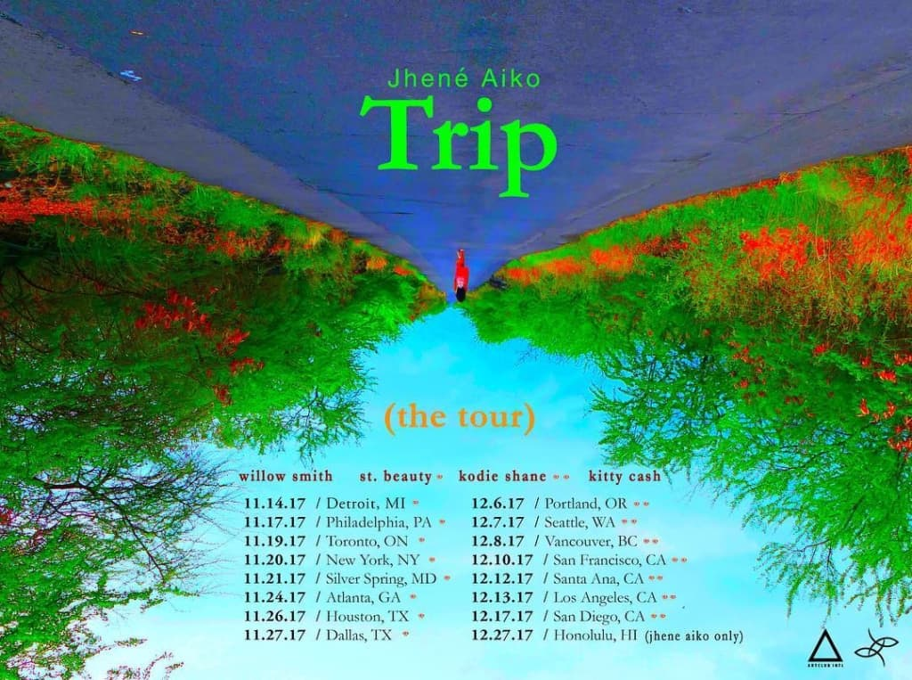 Trip (The Tour) dates jhene aiko