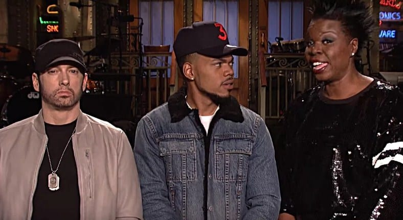 Watch Eminem, Chance The Rapper & Leslie Jones - SNL Promo