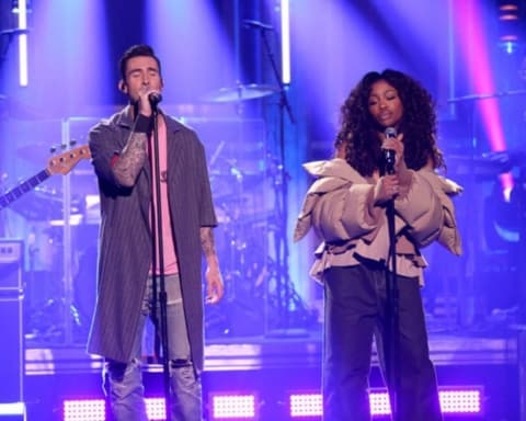 Watch Maroon 5 & SZA - What Lovers Do (Live on Jimmy Fallon)