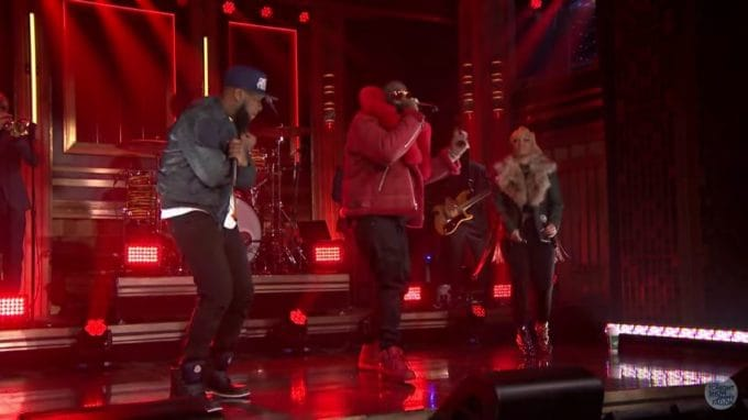 Watch Talib Kweli, Rick Ross & Yummy Bingham - Head Up Eyes Open (Live on Jimmy Fallon)