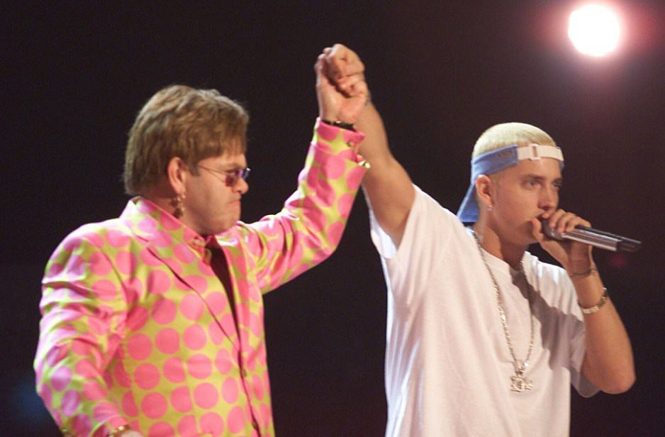 Elton John Reveals The Bizarre X-Rated Wedding Gift He Received From Eminem