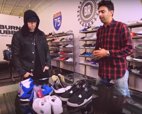 Watch Eminem Goes Sneaker Shopping With Complex