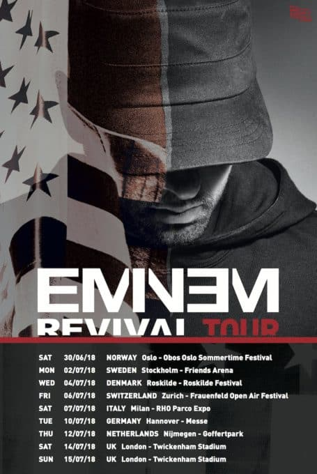 Eminem Announces Revival Europe Tour