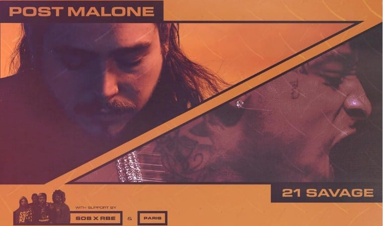 Post Malone Announces North America Tour With 21 Savage & SOB x RBE