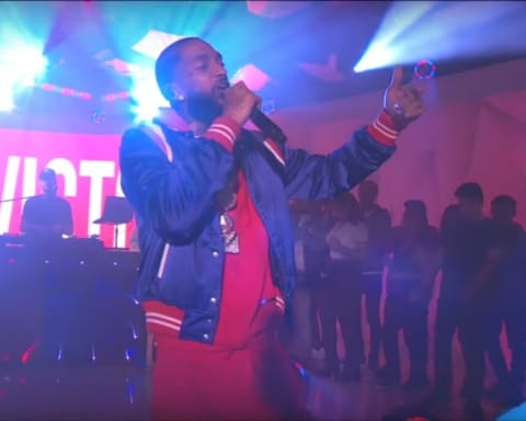 Watch Nipsey Hussle Performs Last Time That I Checc'd on MTV TRL