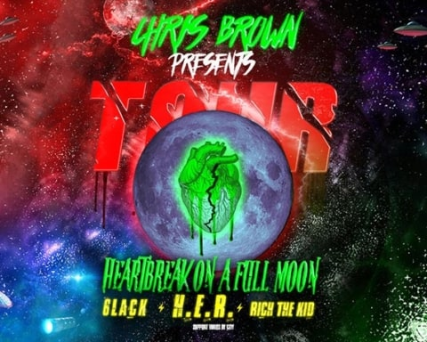 Chris Brown Announces 'Heartbreak On A Full Moon' Tour with H.E.R., 6LACK & Rich The Kid