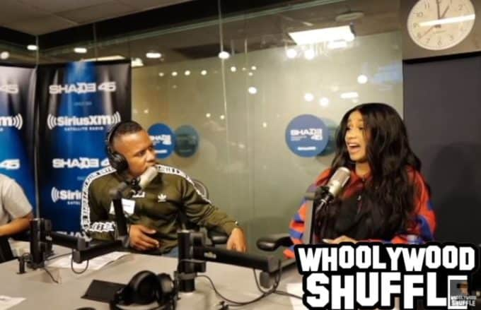 Watch Cardi B's Interview on DJ Whoo Kid's Whoolywood Shuffle Show on Shade 45