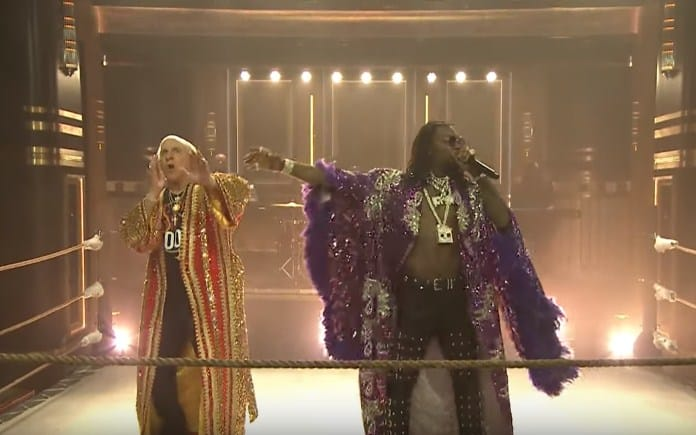 Watch Offset Brings Out Ric Flair for 'Ric Flair Drip' Performance on Jimmy Fallon Show