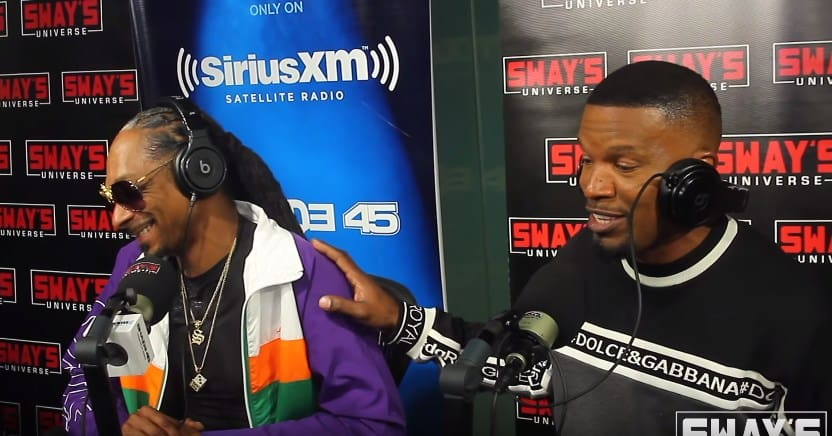 Watch Snoop Dogg & Jamie Foxx Creates A Song on the Spot on Sway In The Morning