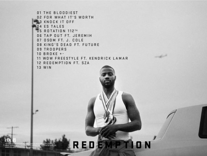 Jay Rock Reveals 'Redemption' Album Tracklist Feat. Kendrick Lamar, J. Cole, Future, SZA & Jeremih; Releases the Intro Song 'The Bloodiest'