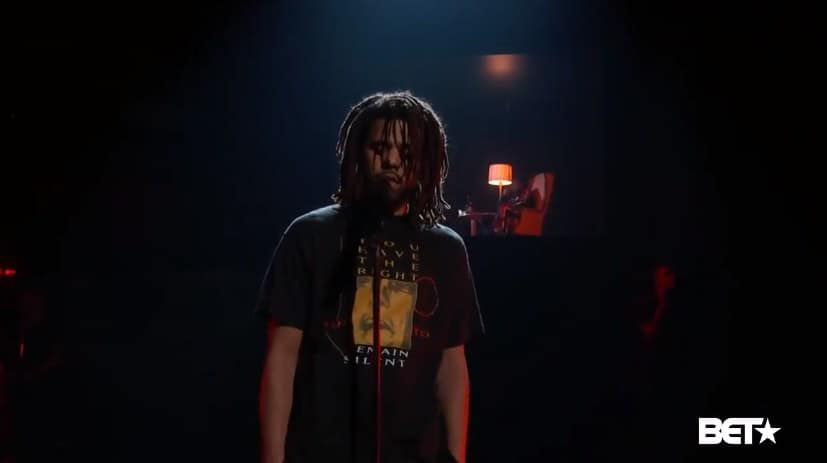 Watch J. Cole Performs 'Friends' with Daniel Caesar & Wale at 2018 BET Awards