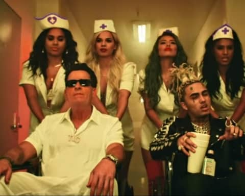 Watch Lil Pump's Drops New Video 'Drug Addicts' Starring Charlie Sheen