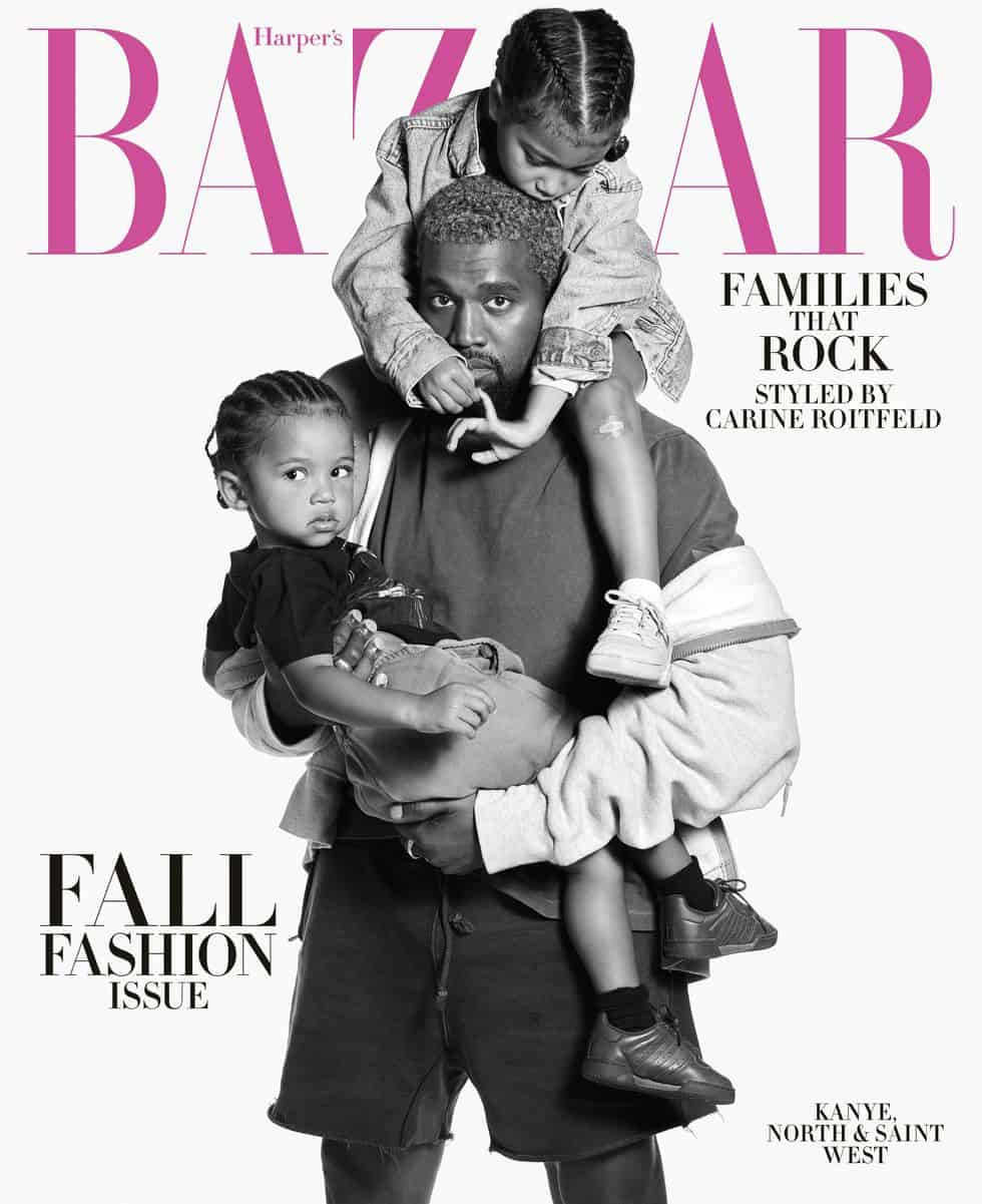 Kanye West Covers Harper's Bazaar's Magazine with North & Saint