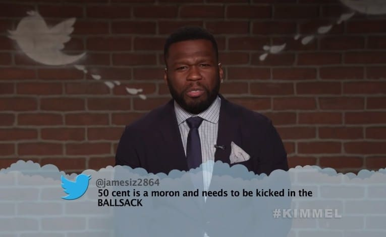 Watch 50 Cent, Lil Wayne, Logic, Big Sean, ASAP Rocky, Pusha T & More Read Mean Tweets on Jimmy Kimmel Live