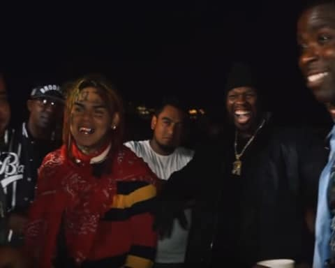 Watch Behind The Scenes Video For 50 Cent, Uncle Murda, Casanova & 6ix9ine's Get The Strap