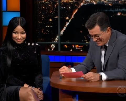 Watch Nicki Minaj's Interview on The Late Show with Stephen Colbert