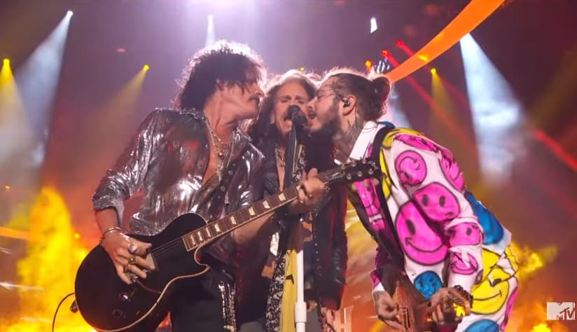 Watch Post Malone & Aerosmith Perform Medley at MTV VMAs 2018