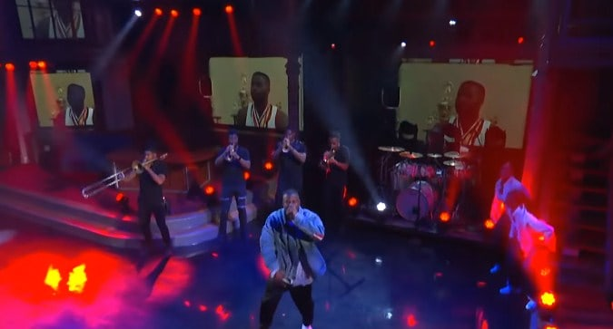 Jay Rock Performs WIN On Stephan Colbert Show