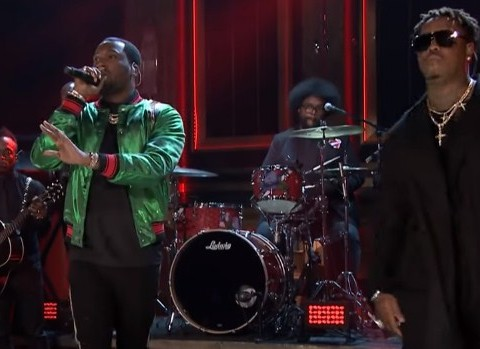 Meek Mill Performs Dangerous with PnB Rock & Jeremih on Jimmy Fallon Show