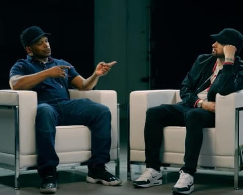 Watch Eminem Talks Joe Budden, Slaughterhouse, MGK & More in Interview with Sway Calloway (Part 2)