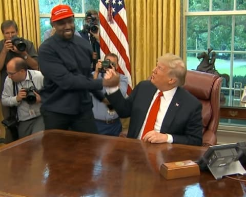 Watch Kanye West Meets Donald Trump in the Oval Office at White House