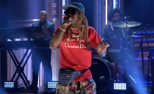 Watch Lil Wayne Performs Dedicate on Jimmy Fallon Show