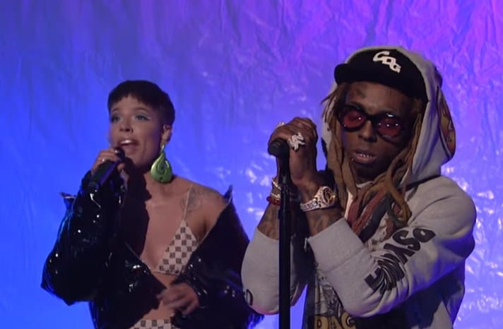 Watch Lil Wayne Performs on SNL with Halsey & Swizz Beatz