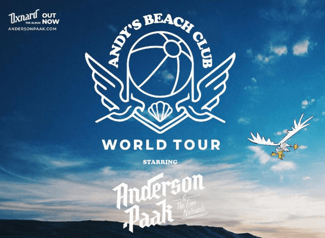 Anderson .Paak Announces 'Andy's Beach Club World Tour'