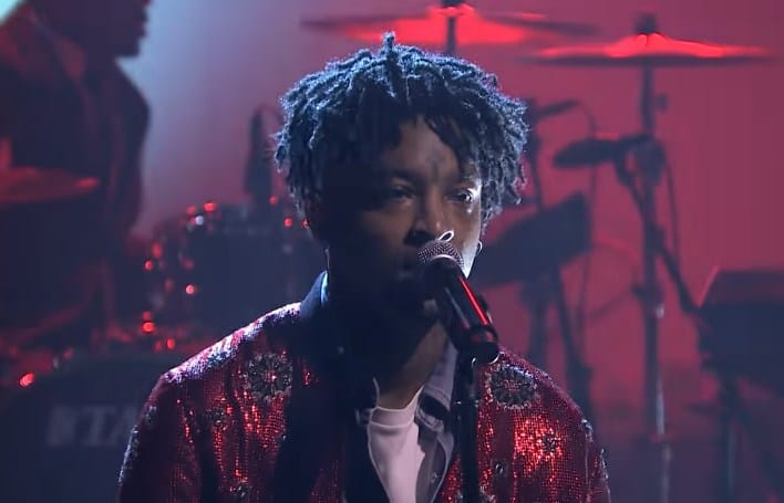 Watch 21 Savage Performs 'A Lot' on Jimmy Fallon Show