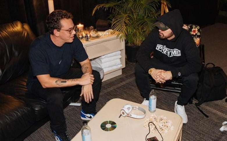 Watch Logic Talks Meeting with Eminem & Co.