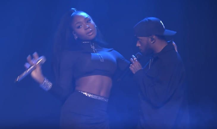 Watch Normani & 6LACK Performs 'Waves' on Jimmy Fallon's Show
