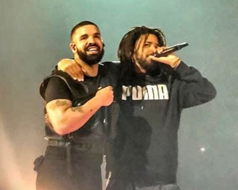 Watch Drake Brings Out J. Cole in London; Reveals They're Working on New Music Together
