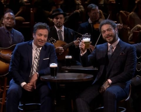Watch Post Malone Previewed 'Circles', Sings 'Seven Drunken Nights' & Played Beer Pong with Jimmy Fallon