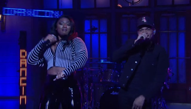 Watch Chance The Rapper Performs with Megan Thee Stallion on Saturday Night Live